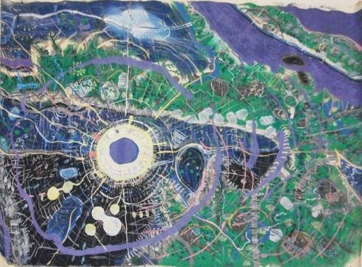 Isaiah Zagar landscape painting
