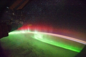Aurora seen from space